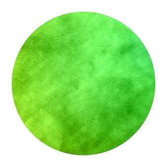 Struttura circolare del fondo della struttura dell'acquerello disegnato a mano verde con le macchie
