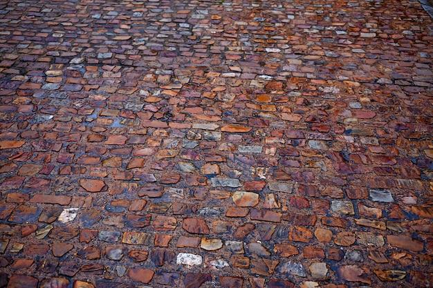 Struttura del pavimento del ciottolo di pietra di zamora spagna