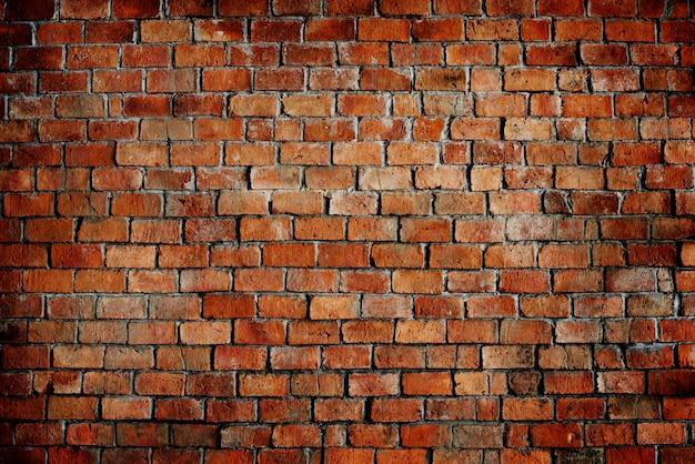 Struttura del reticolo del muro di mattoni rossi