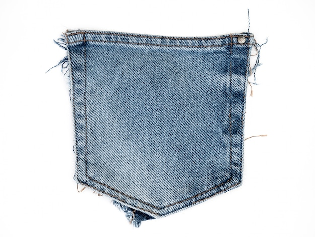 Struttura del tessuto dei jeans del denim isolata