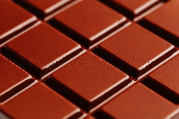 Struttura della fine del cioccolato fondente su.