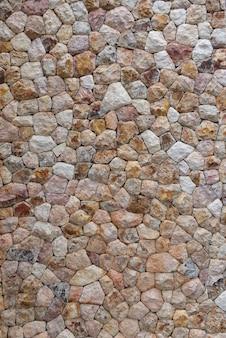 Struttura della muratura del fondo della parete di pietra