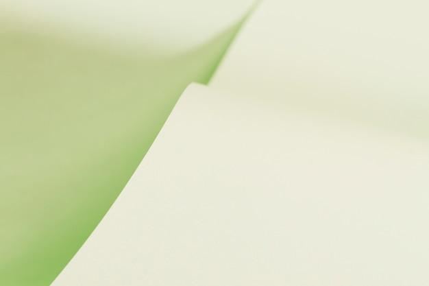 Struttura della pagina verde arricciata carta