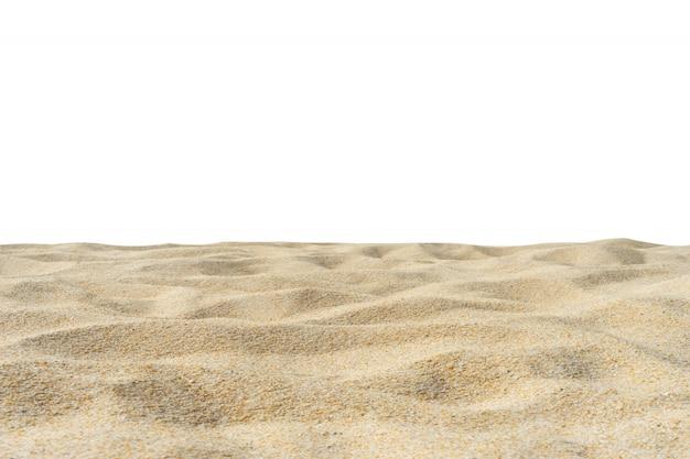 Struttura della sabbia della spiaggia isolata su bianco