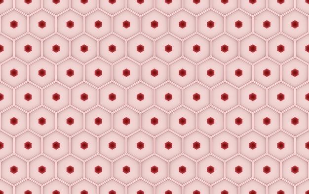 Struttura di cellule rosse senza soluzione di continuità o sfondo muro alveare a nido d'ape