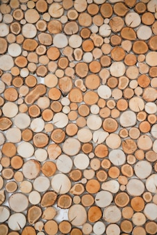 Struttura di legno naturale decorativa per decorazione d'interni