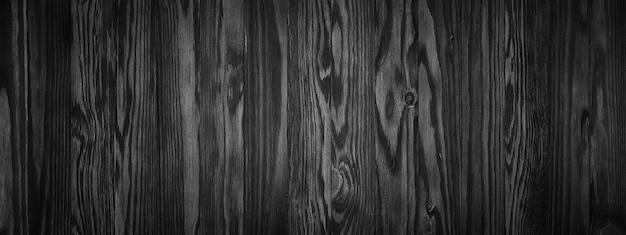 Struttura di legno nera, superficie di tavolo in legno vuota o parete come sfondo