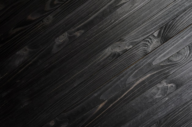 Struttura di legno nera
