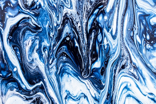 Struttura di marmo blu inc sfondo cosmico