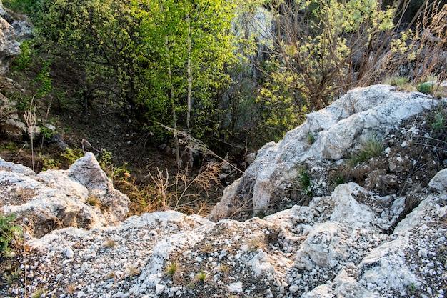 Struttura di pietra roccia
