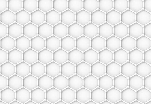 Struttura di relazione esagonale mesh pattern design sfondo muro.