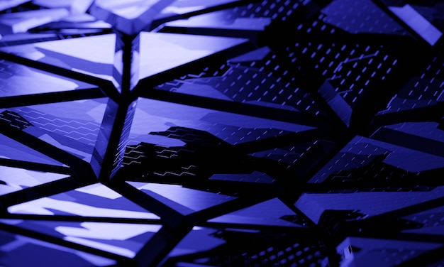 Struttura di tecnologia 3d con fondo leggero blu. illustrazione 3d