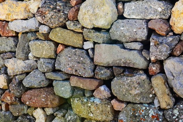 Struttura di vecchia parete della roccia per