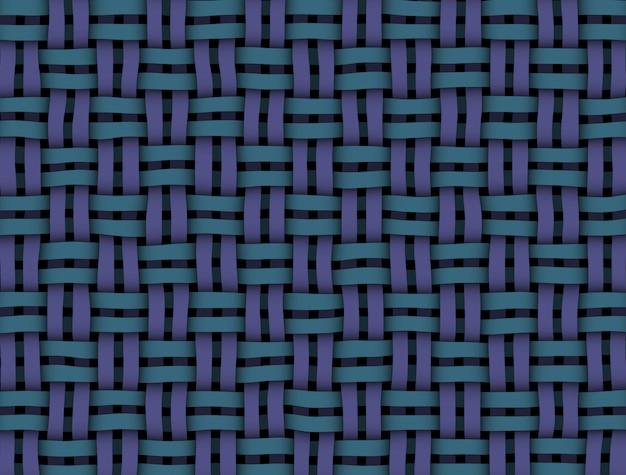 Struttura di vimini di colore blu-viola