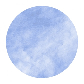 Struttura disegnata a mano blu del fondo della struttura circolare dell'acquerello con le macchie