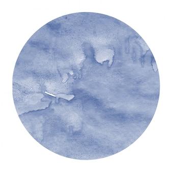 Struttura disegnata a mano blu scuro del fondo della struttura circolare dell'acquerello con le macchie