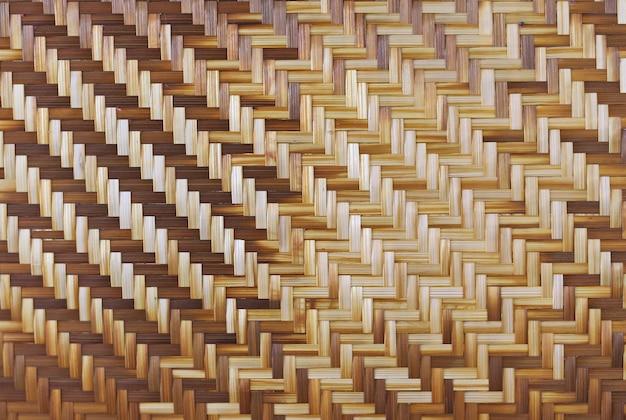 Struttura e fondo di bambù del tessuto.
