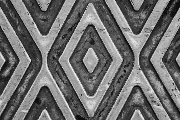 Struttura e fondo di colore grigio del piatto di gomma