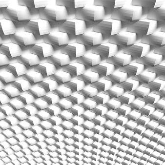 Struttura geometrica bianca, rappresentazione 3d