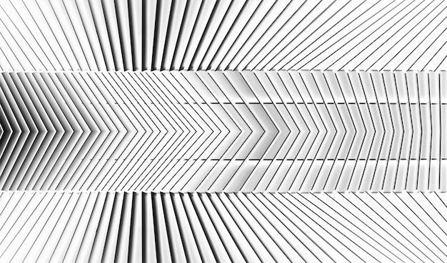 Struttura in acciaio, linea sfondo astratto. architettura moderna decorata sul muro.