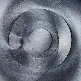 Struttura in metallo spazzolato. astratto, atipico, irregolare forma del cerchio non tipico