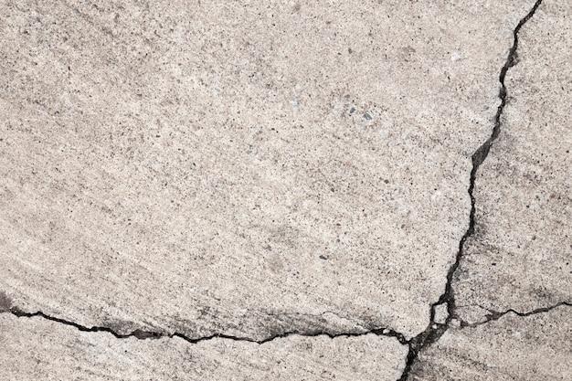 Struttura incrinata del cemento sulla priorità bassa della parete e del pavimento.