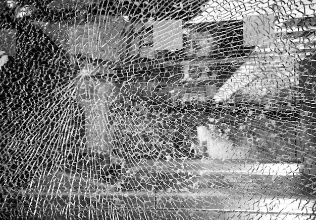 Struttura incrinata di vetro o specchio