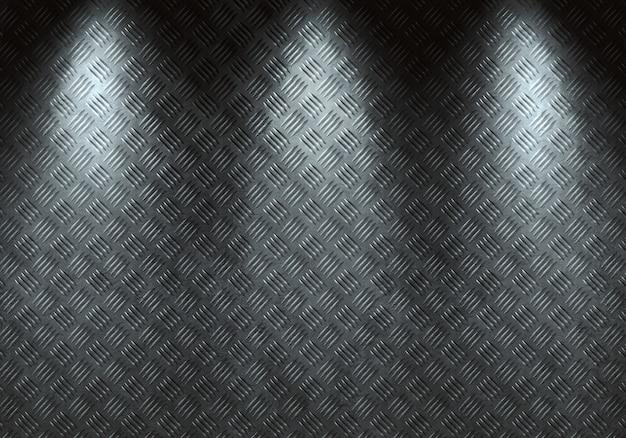 Struttura moderna astratta del metallo del diamante grigio, strato con luce direzionale.