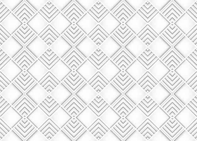 Struttura moderna senza cuciture della parete di progettazione del modello delle mattonelle della griglia quadrata bianca