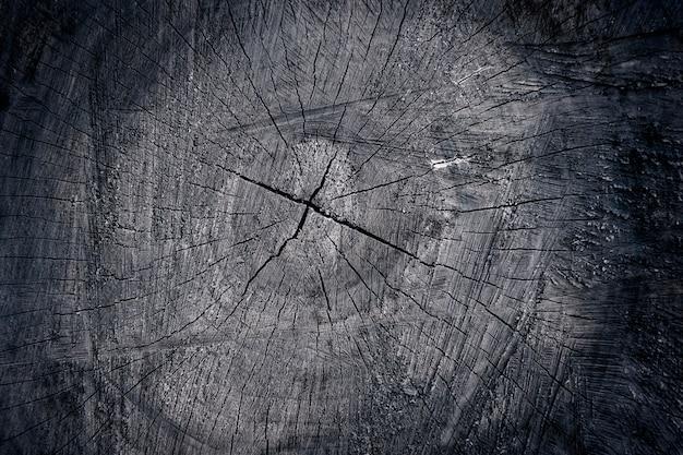 Struttura nera del taglio di legno, primo piano del fondo