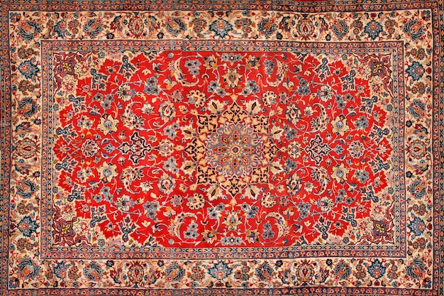 Struttura orientale tappeto persiano