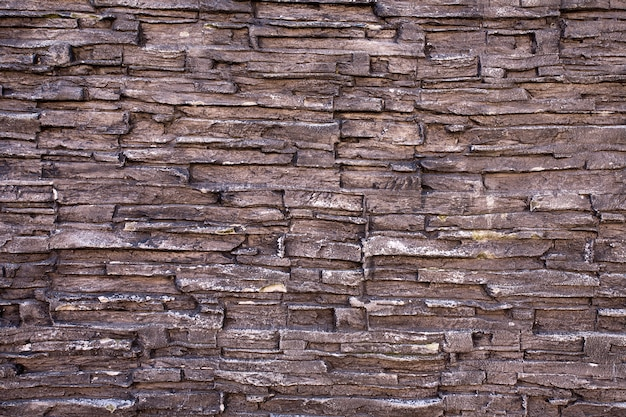 Struttura rustica della parete di pietra