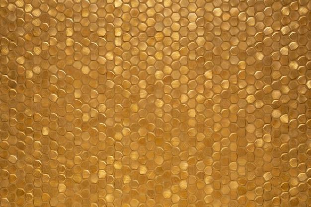 Struttura scintillante scintillante del fondo della parete piastrellata oro, modello di mosaico brillante ricco di lusso moderno