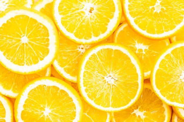 Strutture e superficie della frutta arancio del primo piano
