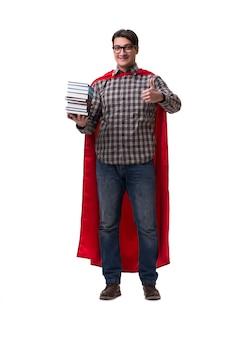 Studente dell'eroe eccellente con i libri isolati