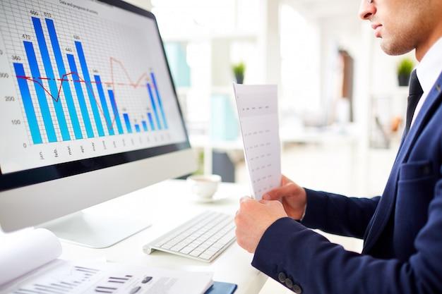 Studio del grafico delle vendite