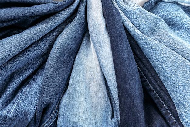 Studio shot jeans, abbigliamento, sfondo denim
