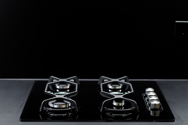 Stufa da cucina moderna nera