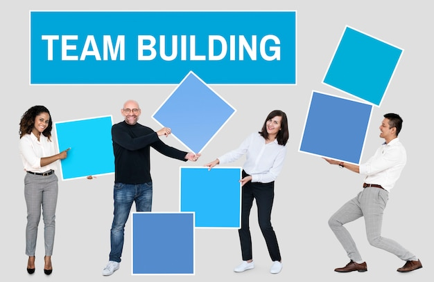 Successo attraverso il lavoro di squadra e il team building