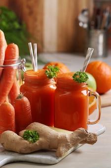 Succo di carota fresco