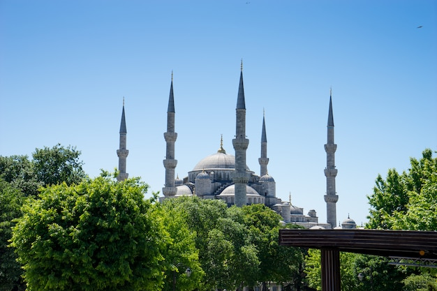 Sultan ahmed moschea blu, istanbul, turchia