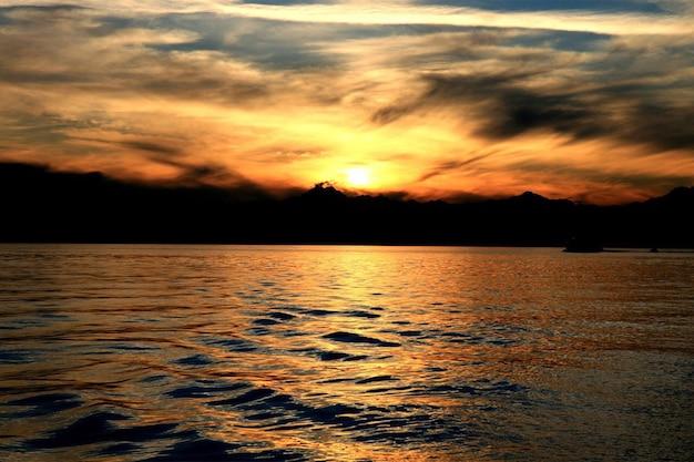 Sun set dal mar rosso - egitto