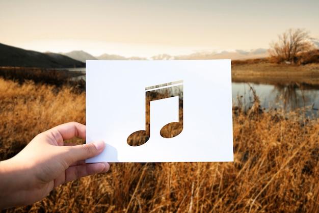 Suono di musica nota musicale traforata
