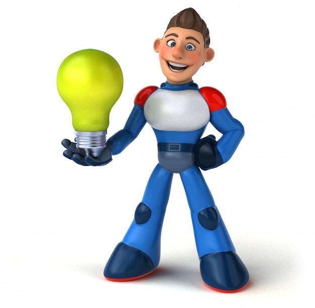 Supereroe super moderno - personaggio 3d