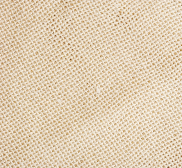 Superficie del panno bianco di lino grezzo