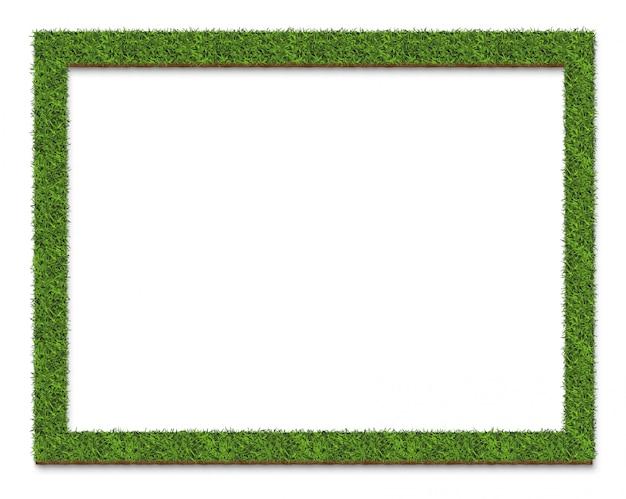 Superficie del piatto della struttura dell'erba verde, isolata su bianco