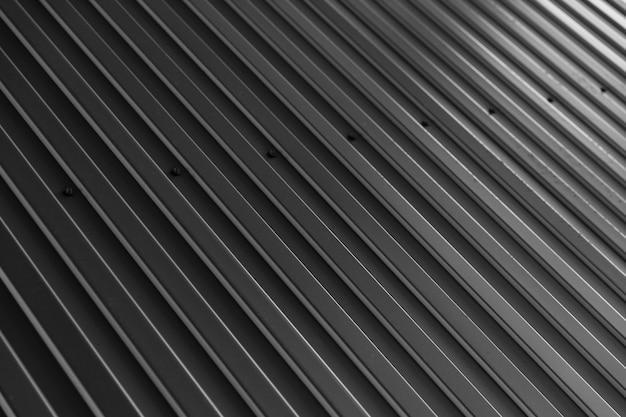 Superficie della parete zincata nera