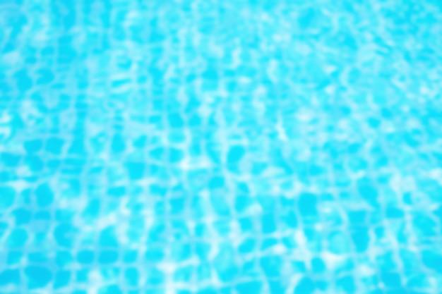 Superficie della piscina blu