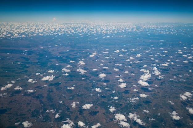 Superficie della terra vista dall'aereo