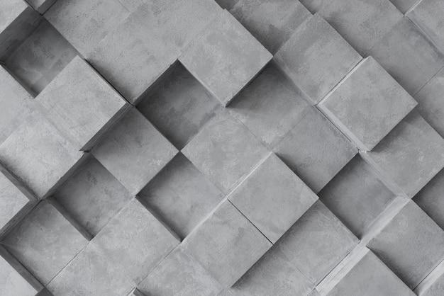 Superficie grigia 3d con quadrati